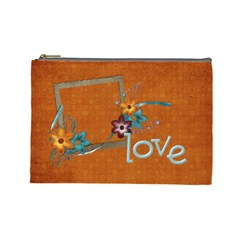 Love Cosmetic Bag L By Mikki   Cosmetic Bag (large)   Y1lr7zg6mbpu   Www Artscow Com Front