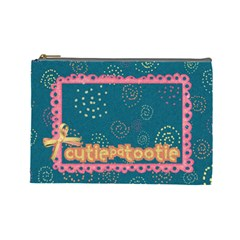 Cutiepatootie Cosmetic Bag L By Mikki   Cosmetic Bag (large)   Gjct0fx60to0   Www Artscow Com Front
