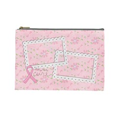 Breast Cancer Awareness Cosmetic Bag L By Mikki   Cosmetic Bag (large)   4nours2zcgbw   Www Artscow Com Front