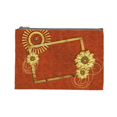 Flowers & Love Cosmetic Bag L By Mikki   Cosmetic Bag (large)   Ulj4wxvqyupc   Www Artscow Com Front
