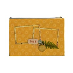Flowers & Love Cosmetic Bag L By Mikki   Cosmetic Bag (large)   Ulj4wxvqyupc   Www Artscow Com Back
