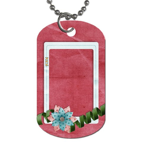 Flower Frame Dog Tag 1 Side By Mikki   Dog Tag (one Side)   5a1ua7ms6uzk   Www Artscow Com Front