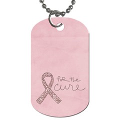 Breast Cancer Awareness Dog Tag 2 Sides By Mikki   Dog Tag (two Sides)   371br04mtcmh   Www Artscow Com Back