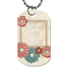 Vintage Dog Tag 2 Sides By Mikki   Dog Tag (two Sides)   C4l4y1213j2d   Www Artscow Com Front