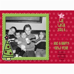 Fun Christmas Card 1 By Martha Meier   5  X 7  Photo Cards   K8b1gln7wh8l   Www Artscow Com 7 x5  Photo Card - 8