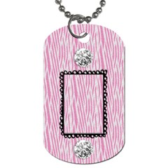Zebra & Bling Dog Tag 2 Sides By Mikki   Dog Tag (two Sides)   T5rgu3gh2vmh   Www Artscow Com Front