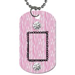 Zebra & Bling Dog Tag-2 sides - Dog Tag (Two Sides)