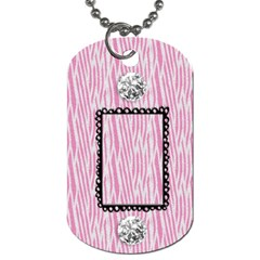 Zebra & Bling Dog Tag 2 Sides By Mikki   Dog Tag (two Sides)   T5rgu3gh2vmh   Www Artscow Com Back