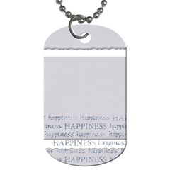 Laughter & Happiness Dog Tag Back