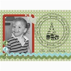 Merry Christmas Card 1 By Martha Meier   5  X 7  Photo Cards   30h3y6kkljqz   Www Artscow Com 7 x5 Photo Card - 1