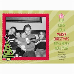Fun Christmas Card 3 By Martha Meier   5  X 7  Photo Cards   Zvw4z36mc0as   Www Artscow Com 7 x5 Photo Card - 7