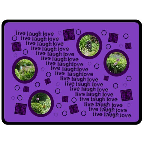 Live Laugh Love Purple Bubbles Extra Large Fleece Blanket 2 By Catvinnat   Fleece Blanket (large)   15x0e7yia9m9   Www Artscow Com 80 x60 Blanket Front