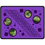live laugh love purple bubbles extra large fleece blanket 2 - Fleece Blanket (Extra Large)