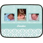Simply Charming Blue Mini Fleece Blanket