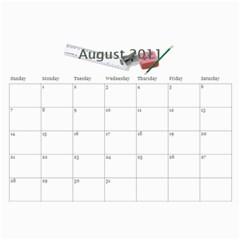 Grandmas Calendar By Anna Marie   Wall Calendar 11  X 8 5  (12 Months)   8whbp2otyou3   Www Artscow Com Aug 2011