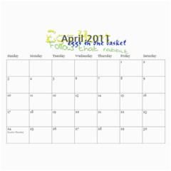 Grandmas Calendar By Anna Marie   Wall Calendar 11  X 8 5  (12 Months)   8whbp2otyou3   Www Artscow Com Apr 2011