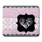 Pink & Black Heart Frame Mousepad - Large Mousepad