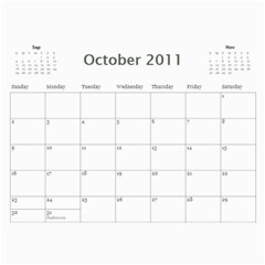 Calender 2011 By Therese Lim   Wall Calendar 11  X 8 5  (12 Months)   Mjwf29jwgbvx   Www Artscow Com Oct 2011