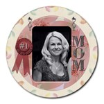 #1 Mom Round Mousepad