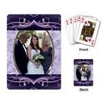 Pretty Purple Playing Cards - Playing Cards Single Design