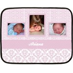 Simply Charming Pink Mini Fleece Blanket