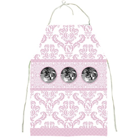 Simply Pink Full Print Apron By Klh   Full Print Apron   Qix0wr5vx224   Www Artscow Com Front