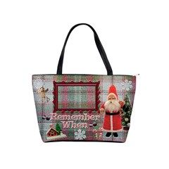 Old Fashioned Santa Christmas Classic Shoulder Bag 2 Sides  By Ellan   Classic Shoulder Handbag   Soj6n1nqxtu4   Www Artscow Com Front