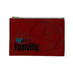 Love My Family Cosmetic Bag By Amanda Bunn   Cosmetic Bag (large)   Bzmwy1sr75k5   Www Artscow Com Front