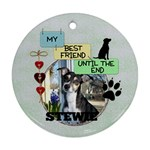 Dog Remembrance 2-Sided Ornament - Round Ornament (Two Sides)