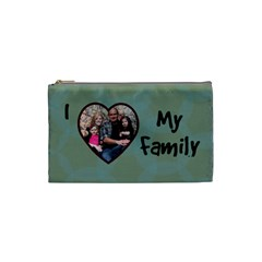 I Heart My Family Small Cosmetic Bag By Amanda Bunn   Cosmetic Bag (small)   Xo590hyo3nqo   Www Artscow Com Front