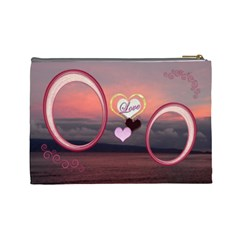 I Heart You 35 Love Sunset Large Cosmetic Bag By Ellan   Cosmetic Bag (large)   7fl45npicp2u   Www Artscow Com Back