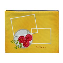 Cosmetic Bag (xl)  Template Flowers1 By Jennyl   Cosmetic Bag (xl)   Opwzekc80os9   Www Artscow Com Front