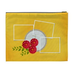 Cosmetic Bag (xl)  Template Flowers1 By Jennyl   Cosmetic Bag (xl)   Opwzekc80os9   Www Artscow Com Back