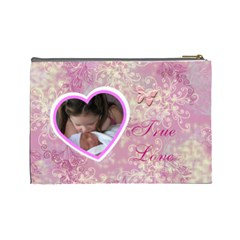 I Heart You This Much Baby Pink Large Cosmetic Bag By Ellan   Cosmetic Bag (large)   Nthvwmiodqn2   Www Artscow Com Back