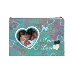 I Heart You This Much Baby Blue Aqua2 Large Cosmetic Bag By Ellan   Cosmetic Bag (large)   Z57zn0h4oc53   Www Artscow Com Back