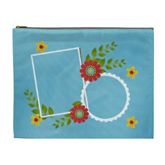 Cosmetic Bag (xl)  Template Flowers3 By Jennyl   Cosmetic Bag (xl)   Ci4a0h152kw9   Www Artscow Com Front