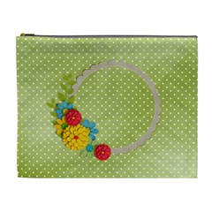 Cosmetic Bag (xl)  Template Flowers4 By Jennyl   Cosmetic Bag (xl)   Xh73cy8j7rhy   Www Artscow Com Front