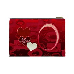 I Heart You Love Red  Large Cosmetic Bag By Ellan   Cosmetic Bag (large)   Fr25rele91qz   Www Artscow Com Back
