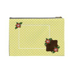Cosmetic Bag (large)  Template Yellow By Jennyl   Cosmetic Bag (large)   C71txqqik4nc   Www Artscow Com Back