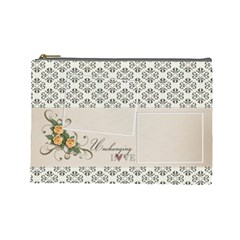 Cosmetic Bag (large)  Unchanging Love By Jennyl   Cosmetic Bag (large)   6f064y09g7bd   Www Artscow Com Front