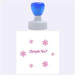 snow - Rubber Stamp Round (Large)