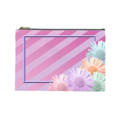 Flowers Cosmetic Bag Large By Add In Goodness And Kindness   Cosmetic Bag (large)   88vd0anen74w   Www Artscow Com Front