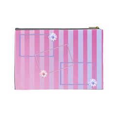 Flowers Cosmetic Bag Large By Add In Goodness And Kindness   Cosmetic Bag (large)   88vd0anen74w   Www Artscow Com Back