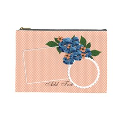 Cosmetic Bag (large)  Violet Flowers By Jennyl   Cosmetic Bag (large)   Onlkx31s4493   Www Artscow Com Front