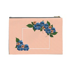 Cosmetic Bag (large)  Violet Flowers By Jennyl   Cosmetic Bag (large)   Onlkx31s4493   Www Artscow Com Back