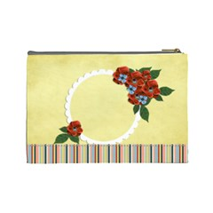 Cosmetic Bag (large)  Red Flowers By Jennyl   Cosmetic Bag (large)   Onurii5ljamt   Www Artscow Com Back