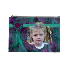 New Year Large Cosmetic Case 2 By Joan T   Cosmetic Bag (large)   R83n9o9nsajq   Www Artscow Com Front