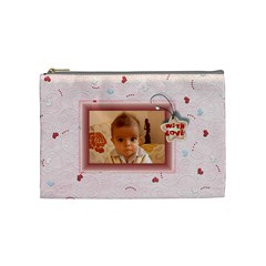 With Love   Purse By Daniela   Cosmetic Bag (medium)   Ndvr7zlz55b0   Www Artscow Com Front