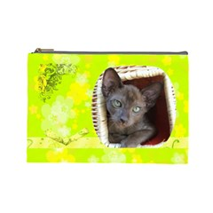 Lime Juice Large Cosmetic Case 1 By Joan T   Cosmetic Bag (large)   C5jw0q4c1sd1   Www Artscow Com Front