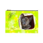 Lime Juice Large Cosmetic Case 1 - Cosmetic Bag (Large)